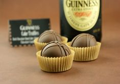 Chocolate Stout {Guiness} Cake Truffles. I know my dad would like these on Father's Day!