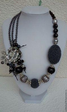 Luxus Statement Kette Halskette Ikita Paris Emaille Metall   Blau//Silber Kragen
