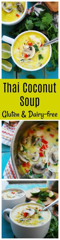 Gluten & Dairy-free Thai Coconut Noodle Soup (Gluten, dairy, egg, soy, peanut & tree nut free; top-8-free) with vegan, Whole30 & Paleo options too! |allergy-friendly soups| |allergy-friendly dinners| |dairy-free soup| |gluten-free soup| |gluten-free thai food| |dairy-free thai food|