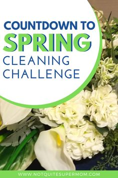 Who is up for a countdown to spring home cleaning challenge? Start our 7 week spring cleaning checklist today and have a clean home for spring! Countdown to Spring Home Cleaning Challenge - Not Quite Super Mom