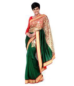 Mandira Bedi Turquoise Silk Saree, http://www.snapdeal.com/product/mandira-bedi-turquoise-silk-saree/658651442297