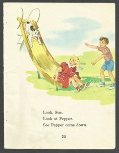 14 Pages from Vintage Childrens School Book by RandomPaperEtc