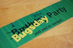 Bug Birthday Party Invitations | Nounces