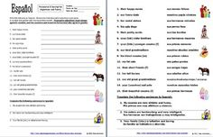 Spanish Possessive Adjectives Bundle of 4 Worksheets and
