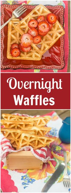 These overnight yeast waffles are amazingly light and fluffy.