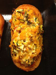 Stuffed Butternut Squash - this one is with veg but works well with mince