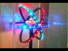3d Atom Model Glowing With LED