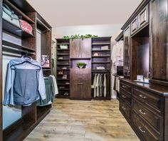 Beautiful Richly Stained Wood Master Closet By Classy Closets. Visit Us Now  To Schedule A