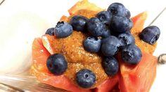 Antyrakowy pudding z papai i borówek - Surowy Szef