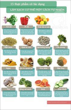Thanh lọc cơ thể là một trong những nhu cầu ngày càng trở nên phổ biến. Thực phẩm giúp thanh lọc cơ thể nhanh chóng với 15 loại thực phẩm quanh ta từ hôm nay sẽ đem đến cho bạn cơ thể khỏe mạnh trông thấy.