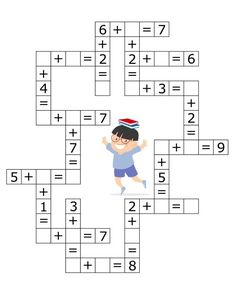 Coloring Pages, Education, Learning: Math Activities Preschool Printables Kindergarten Kids Math Worksheets, Kindergarten Math Activities, Maths Puzzles, Preschool Printables, Homeschool Math, Teaching Math, Tracing Worksheets, Free Printables, Math For Kids
