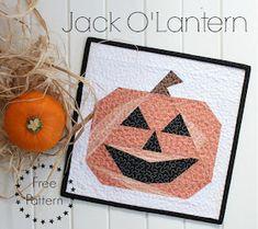 Quilt Inspiration: Free Pattern Day: Halloween Halloween Quilt Patterns, Mini Quilt Patterns, Halloween Quilts, Paper Piecing Patterns, Halloween Boo, Pattern Blocks, Halloween Crafts, Halloween Sewing, Patchwork Ideas