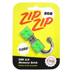 8GB Memory Brick Fluoro Green now featured on Fab.