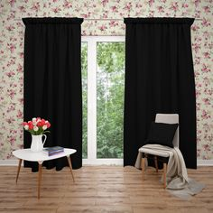 Excited to share this item from my #etsy shop: Blackout Solid Colors, Window Curtains, Room Darkening, Thermal Insulation Curtains
