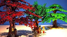 Ever wondered why LEGO-trees are so small compared to the minifigure?I live in a very green city with a lot of trees, but the LEGO city barely has any tree. Lego Tree, Lego Costume, Summer Trees, All Lego, Lego Modular, Lego Room, Lego Worlds, Lego Architecture, Lego Design