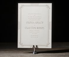 copper and pink wedding invitations by Hello Tenfold for Bella Figura