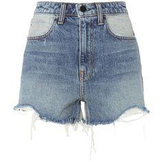 Alexander Wang Women's Bite Cut Offs ($245) ❤ liked on Polyvore featuring shorts, denim, cutoff shorts, alexander wang, cut off shorts, alexander wang shorts and zipper shorts