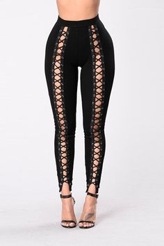 cb54cb6c87a Spring Sexy Lace Up Workout Leggings Black Pants High Waist Leggings Rivet  Hollow Out Stretch Fitness Winter Leggings Activewear