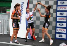 Exhilarating racing in Abergavenny sees Olympic track champions Peter Kennaugh and Laura Trott win national road race titles Dani King, Lizzie Armitstead, National Road, Road Racing, Olympics, Cycling, Champion, British, Running