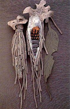 Home>Cultural Entomology Digest Issue 4 - Insect Articles>Annemieke Mein's Textile Sculptures: Case Moth Cocoons Annemieke Mein's Textile Sculptures: Case Moth Cocoons Textile Sculpture, Textile Fiber Art, Textile Artists, Soft Sculpture, Fabric Art, Fabric Crafts, Textiles, Moth Cocoon, Art Beauté