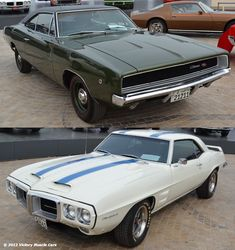Name Your Muscle Car - Kuwait Concours Edition: Do you go with the 1968 Dodge Charger R/T or the 1969 Pontiac Firebird Trans Am? Firebird of course! American Dream Cars, American Classic Cars, American Muscle Cars, El Rock And Roll, 1968 Dodge Charger, 1960s Cars, Dodge City, Pontiac Firebird Trans Am, Dodge Chrysler