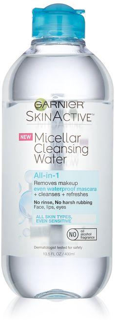 Garnier SkinActive Micellar Cleansing Water All-in-1 Cleanser & Waterproof Makeup Remover, 13.5 floz