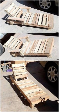 wooden pallets sun lounger