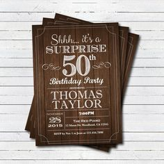 Surprise 50th birthday invitation. Adult man any age. by CrazyLime