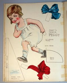 Uncut Paper Doll Book Little Mary Mixup Her Friend Peggy Saalfield 1920 Comic | eBay