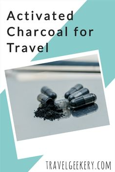 Activated charcoal for travel: There are many activated charcoal uses such as for stomach, the teeth etc., but this article focuses on activated charcoal use for traveler's diarrhea. It explains what activated charcoal is, why activated charcoal capsules are best for travelling and where to buy activated charcoal. Incl. info on activated charcoal safety, its benefits and possible side effects. #activatedcharcoal #travel #diarrhea #travelersdiarrhea #bloating #foodpoisoning #travelgeekery Activated Charcoal Uses, Activated Charcoal Capsules, Travel Gifts, Side Effects, Travel Inspiration, Teeth, Travelling, Safety, Food