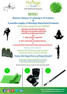 Win Prizes worth over Enter as many times as you like! More Life! Moringa Leaves, Muscle Builder, Win Prizes, Superfoods, As You Like, Nutrition, Vegan, Times, Super Foods