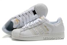 98aa1a1fefeb3 Mens Easy Travel White With Gold Logo Shoes Abrasion Resistant Adidas  Adicolor Dropshipping Limit Offer TopDeals