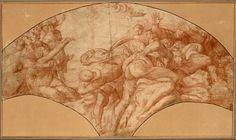 Anonym nach Michelangelo, Die Aufrichtung der ehernen Schlange © Albertina, Wien  #Michelangelo #Renaissance #Drawing #GraphicArt #GraphicCollection #Masterpiece