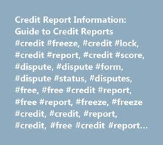 Sample Dispute Letter To Credit Reporting Agencies No Credit