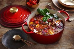 Gather your loved ones for a festive feast with all the trimmings. Try this Gazpacho from Le Creuset's collection of festive recipes...