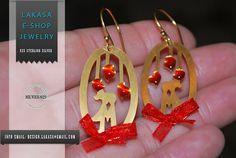 Greek Art, Sterling Silver Earrings, Jewelry Art, Best Gifts, Anniversary, Drop Earrings, Gold, Handmade, Women
