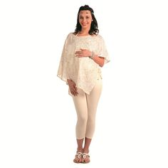 http://tinyurl.com/zk4pp8h Buy Online Off White Polyester Georgette Sequence Comfortable & Designer Radiation Safe Freestyle Tunic at GetAbhi.com