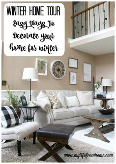 Winter Home Tour | easy ways to decorate for winter | winter decor | decorating for winter | winter decorating | home tour | ideas for winter decor | transitioning decor from Christmas to Winter | neutral home decor