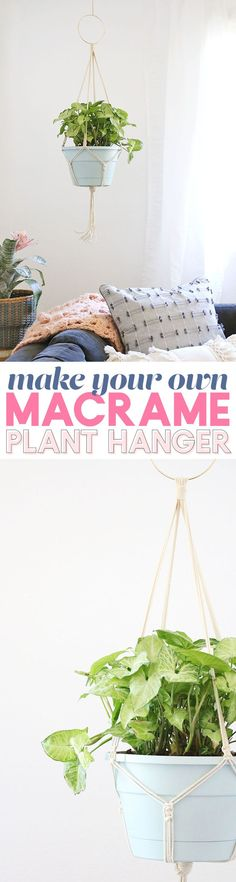 Best Decor Hacks : Description learn how to make your own simple diy macrame plant hanger – full photo instructions – perfect for beginners Diy Simple, Easy Diy, Dyi, Diy Macrame Plant Hanger, Plant Hangers, Crochet Plant Hanger, Macrame Projects, Diy Projects, Sewing Projects