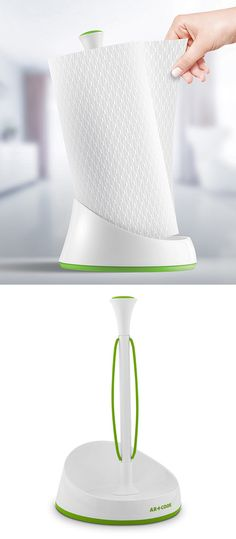 Allow you to grab a paper towel with one hand! Quick tear paper towel holder dispenser #product_design