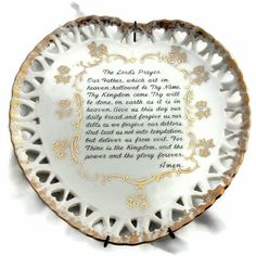 Vintage Lord's Prayer Heart Shaped Plate by EclecticVintager, $10.00
