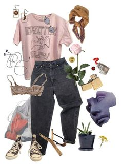 """""""Unbenannt #485"""" by thesmiths84 ❤ liked on Polyvore featuring Levi's, Zippo, Dot & Bo, Jean-Paul Gaultier and Converse"""