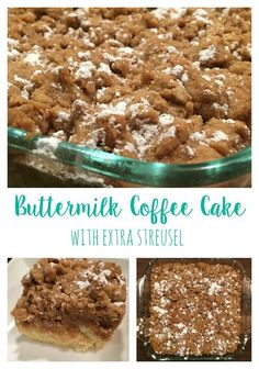 Buttermilk Coffee Cake with Extra Streusel Recipe From the Family With Love Pinterest