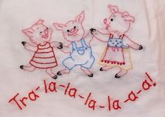 3 Little Pigs, one is wearing and apron dress ;)
