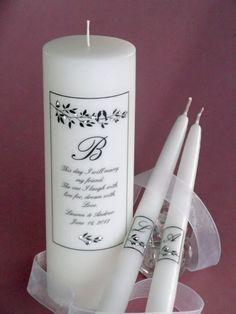 Lovebirds Verse Swarovski Crystal Wedding Unity Candle Set - Affordable Elegance Bridal -