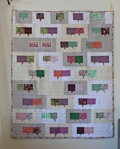 It's not hard to spark some lively craft chit-chat with The Conversation Quilt Pattern. Learn how to make a quilt that makes a statement with this fun and innovative project. Scrappy Quilt Patterns, Modern Quilt Patterns, Quilting Tutorials, Quilting Projects, Geometric Quilt, Project Free, Barn Quilts, Love Sewing, Conversation