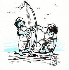 Encres : Capoeira - 85 [ #capoeira #ink #painting ]