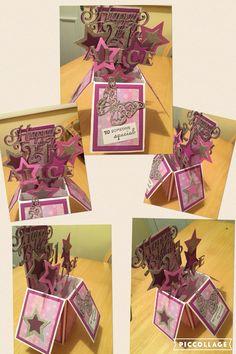 Girls 21st Pop-Up Birthday Card