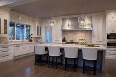 White Kitchen With Tin Range Hood