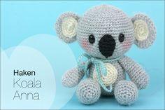 Haken: Koala Anna (gratis haakpatroon) - Nobody ELSe Crochet Patterns For Beginners, Easy Crochet Patterns, Crochet Patterns Amigurumi, Crochet Dolls, Doll Patterns, Amigurumi Toys, Crochet Animals, Handmade Toys, Handicraft